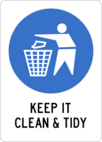 Keep it clean & tidy