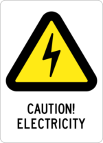 Caution! Electricity