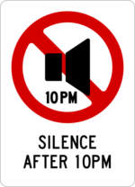 Silence after 10PM