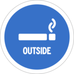 Smoking outside
